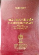 Phật học từ điển Việt Anh